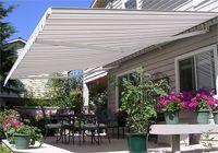 The Total Eclipse® – Long Projection Motorized Awning is the perfect retractable awning to cover large spaces