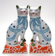 Rob Ryan Staffordshire cats...