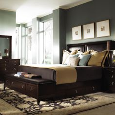 Alston Wood Storage Bed with Bench by Kincaid Furniture