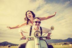 Pre Wedding Poses, Pre Wedding Photoshoot, Wedding Shoot, Vespa Wedding, Motorcycle Wedding, Photo Poses For Couples, Poses Photo, Couple Photography, Wedding Photography