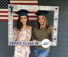Graduation Photo Booth - Congrats Grad Photobooth - Graduation Photobooth Frame Prop - Wood Photo Frame Prop