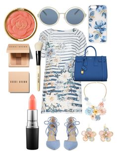 """Pinks and blues"" by fashion-house-boutique on Polyvore featuring Open End, Yves Saint Laurent, Kristin Cavallari, Bobbi Brown Cosmetics, MAC Cosmetics, Mixit, Sonix, 3.1 Phillip Lim and Milani"