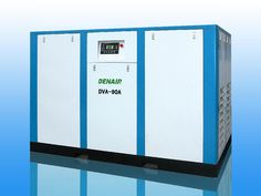 DENAIR Standard Type Variable Frequency Oil Injected Screw Air Compressor  The value of the variable frequency compressor Advantage of Starting  Low noise  Variable flow rate control Stabilivolt No Waste of High Pressure Model: DVA-90 Working Pressure (MPa): 0.75 Air Delivery (m3/min): 6.40-16.0 Voltage and IP Grade: 380V IP54 Noise(DB): 80±3 Outlet Pipe Diameter (inch): DN50 Starting Method: Direct Driven Air Cooling Dimension (mm) L: 2150, W: 1300, H: 1550 Weight (kg): 1950