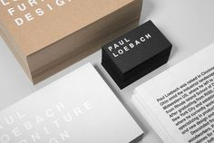 Paul Loebach Identity by Studio Lin, via Behance