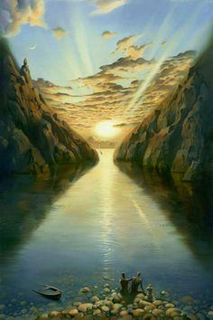 Vladimir Kush 1965   Russian painter   The Surreal landscapes