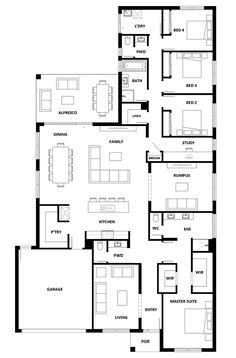 Dakota 316 Home Design - House Design Dakota 316 Modern House Floor Plans, Home Design Floor Plans, New House Plans, Dream House Plans, Australian House Plans, Hotondo Homes, House Plans South Africa, Modular Home Plans, Three Bedroom House Plan