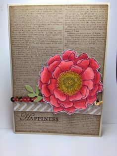 Sneak Peek of Stampin'Up's new Blendibilities Alcohol-based Markers� and my first attempt