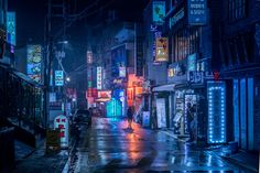 Ultraviolet Break of Day: A Midnight Walk Through the Neon-Hued Streets of Asian Cities by Marcus Wendt | Colossal