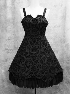 Flocked Ornaments Jumper Skirt  Moi-meme-Moitie Online Shop. #goth
