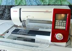 "Here's the sewing machine Leah Day uses--a Janome Horizon 7700. Read about her experience with it, especially concerning applique stitching and free motion quilting. I have the Janome 6600, but this one has been on my ""want"" list since it came out."