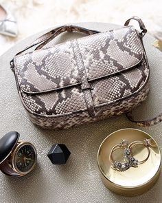 What does ideal weekend start with? A leather crossbody with a neutral snake-effect that pairs with your go-to weekend wear and tucks in all your essentials. Leather Crossbody Bag, Leather Purses, Leather Handbags, Crossbody Bags, Leather Bag, Unique Purses, Cute Purses, Diy Wallet Bag, Expensive Purses