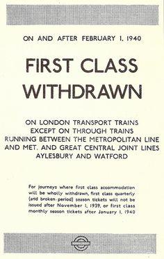 London Transport, 1940