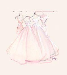 Imagem de dress, pink, and art