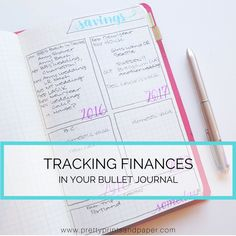 """As the """"Finances"""" prompt comes for the #planwithmechallenge, I wanted to share how I make finance tracking work in my bullet journal. Many of us strive to get our finances in order, and…"""