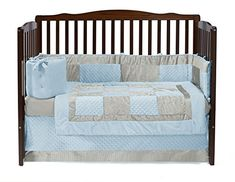 Isabelle & Max Isabelle & Max Croco Minky 4 Piece Crib Bedding Set In Beige/grey Colour: Blue/Ivory Baby Crib Bedding Sets, Baby Nursery Bedding, Crib Sets, Baby Cribs, Doll Bedding, Baby Doll Bed, Doll Beds, Baby Dolls, Grey Crib