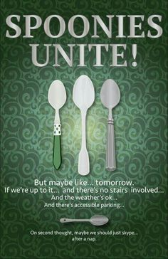 A spoonie is a term used in the chronic illness community and means someone living with a chronic illness. The word started being used a. Chronic Illness Humor, Chronic Migraines, Chronic Pain, Rheumatoid Arthritis, Endometriosis, Ulcerative Colitis, Inflammatory Arthritis, Mental Illness, Pcos