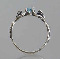 Mermaid ring with Blue Topaz or Stone of Your Choice ~ Size 3 to 9 by SheppardHillDesigns on Etsy (null) Mermaid Jewelry, Jewelry Stores, Jewelry Box, Jewelry Accessories, Jewelry Rings, Stone Jewelry, Jewlery, Stone Rings, Modern Hippie