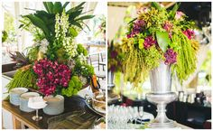 Arranjos de flores - Casamento rústico-chique Foto Luiza Ferraz