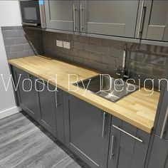Refreshed and repolished... looks great now Kitchen Worktop, Kitchen Cabinets, Work Tops, Home Decor, Decoration Home, Room Decor, Kitchen Base Cabinets, Dressers, Kitchen Cupboards