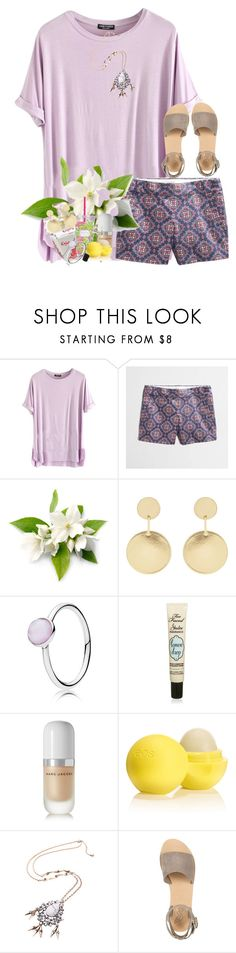 """Off my chest never off my mind"" by livnewell ❤ liked on Polyvore featuring J.Crew, Lilly Pulitzer, Accessorize, Pandora, Too Faced Cosmetics, Marc Jacobs, Eos and Ancient Greek Sandals"