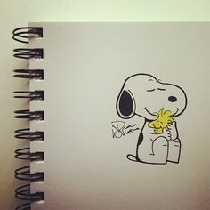 Snoopy and Woodstock doodle