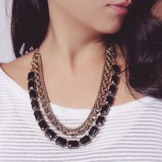 Introducing our oh-so-versatile Jet Octagon Convertible Necklace!