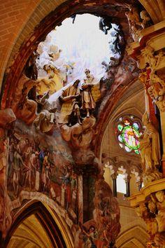 """Detalles de la Catedral de Toledo, su """"Transparente""""."""
