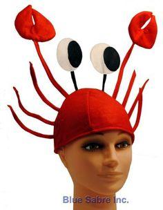 Adult or Child Crab Hat
