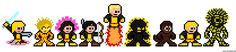 8-Bit New Mutants Marvel Pixel Sprites
