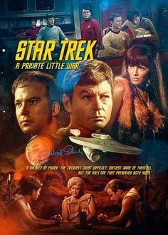 """Star Trek: The Original Series """"A Private Little War"""" (First Broadcast: Febrary Star Trek Tos Episodes, Star Trek Tv Series, Star Trek Show, Star Trek Original Series, Star Trek Books, Science Fiction, Star Trek Wallpaper, Star Trek Posters, Star Trek Gifts"""