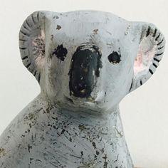 Vintage Koala Statue cute