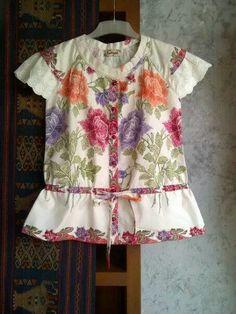 batik and cotton lace