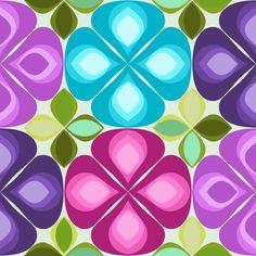gouttelette flowers summer fabric by scrummy on Spoonflower - custom fabric