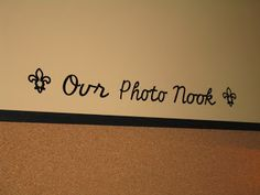 Accountant By Day: Cricut + Vinyl = I labeled the photo nook with vinyl made with my Cricut