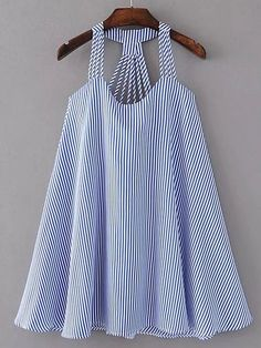 Shop Strappy Pinstripe Open Back Tent Dress online. SheIn offers Strappy Pinstripe Open Back Tent Dress & more to fit your fashionable needs. Day Dresses, Short Dresses, Girls Dresses, Sleeve Dresses, Winter Dresses, Casual Dresses, Prom Dresses, Girl Outfits, Summer Outfits