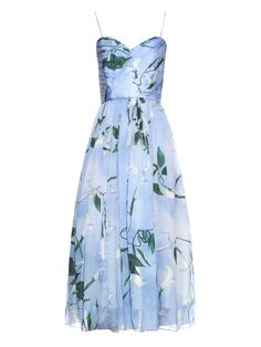 Joice floral-print silk dress | Isolda | MATCHESFASHION.COM US