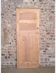 479 - A 1920s Period 5 Panel Pine Door
