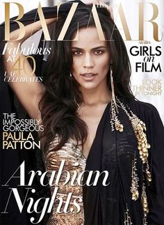 Harper's Bazaar Cover featuring Paula Patton