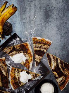 Bananapizza & ice cream. Food & Style Kati Pohja, Photo Sami Repo. Glorian Ruoka & Viini Magazine 3/2013