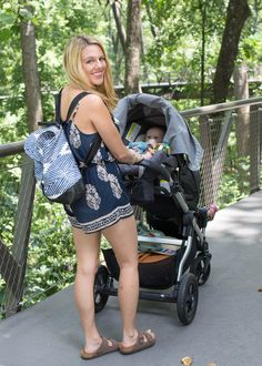 That romper and that bag - perfect mom style! Love Rebekah Scott Designs!