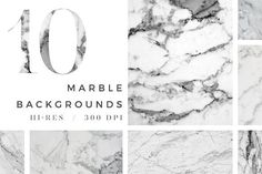 10 Hi-Res Marble Backgrounds by Design Love Shop on @creativemarket