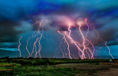 Last night there was an amazing storm over Colo Spgs, CO.  This is a composite of shots.