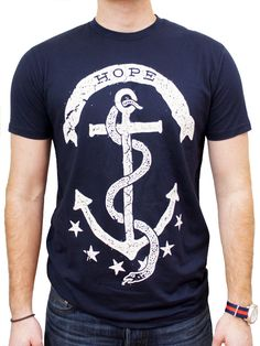 Hope Rhode Island Navy T-Shirt (state motto)
