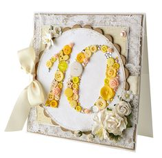 Gorgeous 10th anniversary card by Jenny Hodges, from Papercraft inspirations 131.