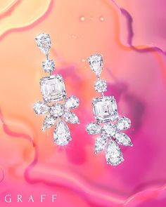 Diamonds are Forever 💎 . Graff Jewelry, High Jewelry, Luxury Jewelry, Diamond Jewelry, Jewelry Rings, Diamond Earrings, Jewelery, Diamond Are A Girls Best Friend, Ring Earrings