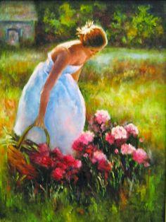 'Lady In Garden'
