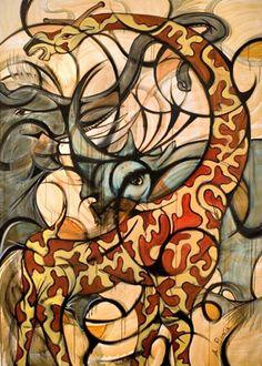 Giraffe, Rhino, Elephant Alex Beard, Artist New Orleans, LA Painted Indian Elephant, Giraffe Images, Beard Art, 2d Art, Cool Paintings, New Artists, Artist Art, Art And Architecture, Art Google