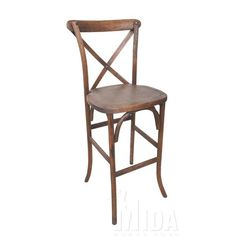 Found it at Wayfair - Forest Cross Back Weathered Style Barstool