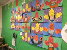 This is an adorable winter art project! Classroom Art Projects, School Art Projects, Art Classroom, Classroom Ideas, Kindergarten Art, Preschool Art, Preschool Winter, Winter Activities, Art Activities