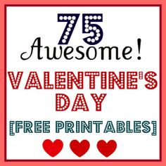 free vday printables